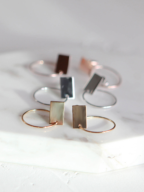 square round earring