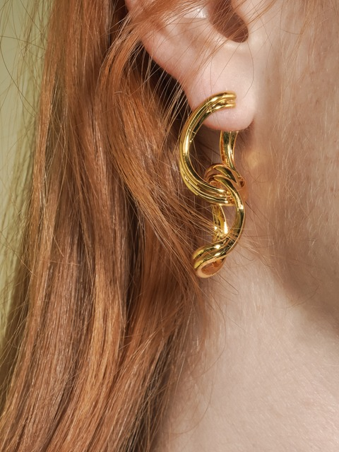 layer ring earring